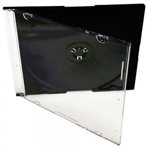 Slim CD Case, Single Black (L)