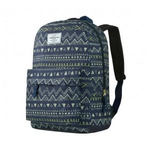 Volkano Diva Series Backpack - Navy Aztec