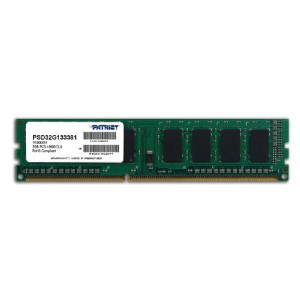Patriot SL 2GB 1333MHz DDR3 Desktop SS Memory