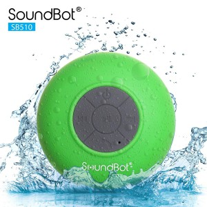 SoundBot SB510 HD Portable Water Resistant Bluetooth 3.0 Speaker with Built-in Mic - Green