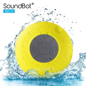 SoundBot SB510 HD Portable Water Resistant Bluetooth 3.0 Speaker with Built-in Mic - Yellow