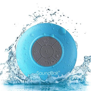 SoundBot SB510 HD Portable Water Resistant Bluetooth 3.0 Speaker with Built-in Mic - Blue