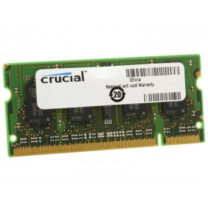 Crucial 2GB Single DDR2 667MHz (PC2-5300) CL5 SODIMM 200-Pin Notebook Memory Module