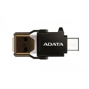 Adata ACMR3PL-OTG-RBK USB 3.1 Type-A/Type-C Black Card Reader