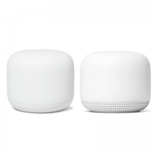 Google Nest Wifi Point and Router  - Snow (2Pack)