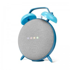 Google Home Mini Clock Case Mount Base Stand - Blue