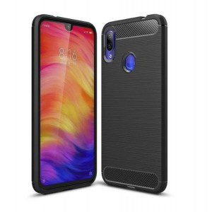 Tuff-Luv Carbon Fibre Style Shockproof Case Xiaomi Redmi 7 - Black