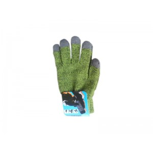 Tuff-Luv Three Finger Touch Screen Woolen Gloves - Green