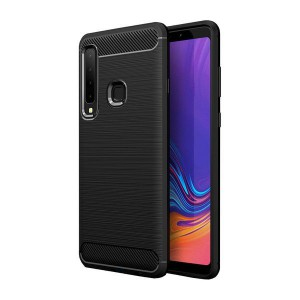Tuff-Luv Carbon Fibre Style Shockproof Case Galaxy A9 (2018) - Black