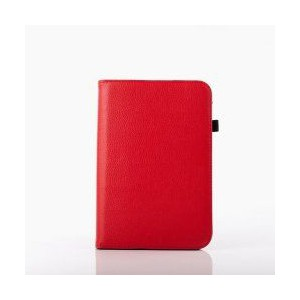 """Tuff-Luv UNI-View Rotating Case for 7"""" Tablet - Universal - Fits any 7"""" Tablet - Red"""