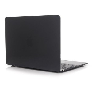 """Tuff-luv Clear Hard-shell Crystal Case for Macbook 12"""" - Black"""