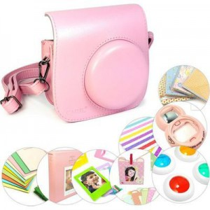 Tuff-Luv 9 in 1 Instax Mini 8 Instant Film Camera Accessories Bundles - Pink
