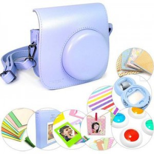 Tuff-Luv 9 in 1 Instax Mini 8 Instant Film Camera Accessories Bundles - Blue