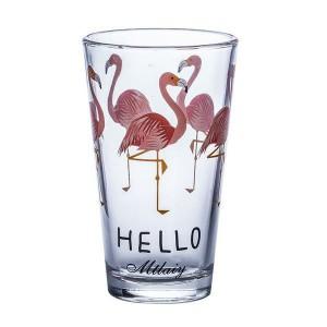 Gift Tribe Flamingo Glass Tumbler (14.5cm x 8.5cm) 400-500ml