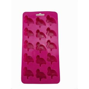 Gift Tribe Pink Flamingo 15 Cube Ice Tray