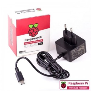 Raspberry Pi 4 USB-C 15.3W Power Supply 5.1V 3A - Black