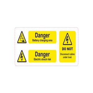 Battery Hazard label Li-ion ( 230mm * 90mm )