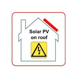 PV on Roof Hazard Labels