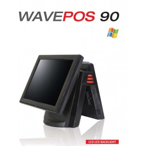 WAVEPOS90 - Intel ATOM D525 Duo Core 1.8Ghz CPU,15'' touch LED Backlight with 3'' FUJITSU Thermal Print