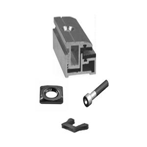 Profi End Clamp Set for Frameless Modules (3-14mm)
