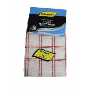 Goldenmarc Terry Swab 100% Cotton 1 Packet of 2