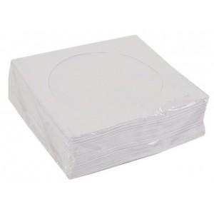 Kenton 80g Bond Paper Sleeves  for CD / DVD  White 100 Per Pack