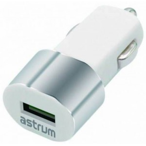 Astrum CC100 White & Silver USB Car Charger