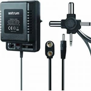 Astrum AD100 AC-DC 3-12 V 1000mA 6 Port Universal Adapter - Black