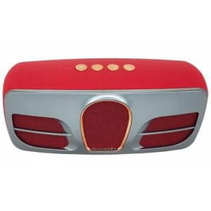 Microworld DV15 Red Bluetooth Speaker / USB / FM / MicroSD