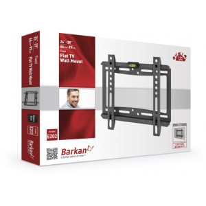 Barkan BRAE202 Fixed Wall Mount for Screens up to 39 inches