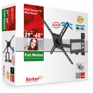 Barkan BRA3400 Four Movement (rotate,fold, swivel and tilt) up to 65'