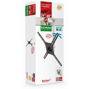 Barkan BRA3500 Telescopic (swivel and tilt) Ceiling Mount up to 65 inches
