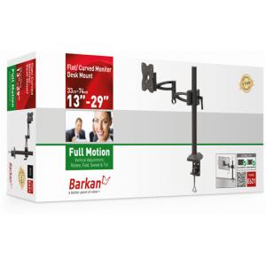 Barkan BRA621B - 5 Movement Monitor Desk Mount