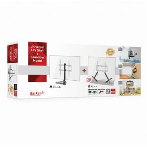 Barkan BRA850 Audio Visual Shelf and Sound Bar Mount Combo