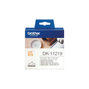 Brother DK 11219  12mm Round Label