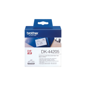 Brother DK 44205 Removable Tape White (62mm x 30.48m)