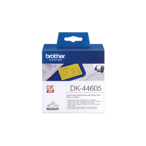 Brother DK 44605 Removable Tape Yellow (62mm x 30.48m)