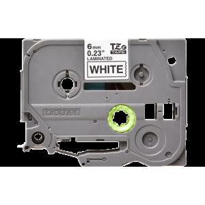 Brother TZE 211 Labelling Tape Cassette - 6mm Black on White 8m