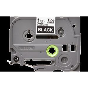 Brother TZE 315 Labelling Tape Cassette - 6mm White on Black 8m