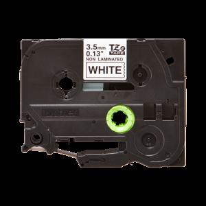 Brother TZE N201 Labelling Tape Cassette - 3.5mm Black on White 8m