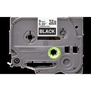 Brother TZE 325 Labelling Tape Cassette - 9mm White on Black 8m