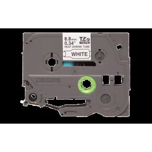 Brother TZE HS221 8.8mm Black on White Heat Shrink 1.5m