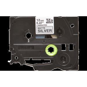 Brother TZE M931 Labelling Tape Cassette - 12mm Black on Matt/Silver 8m