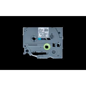 Brother TZE MPSL31 Labelling Tape Cassette - 12mm Black on Lace 4m