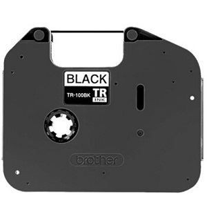 Brother TR 100 BK 12mm Black Ink Ribbon for PT E800T, 100m