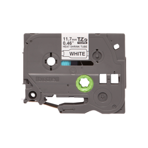 Brother TZE HS231 11.7mm Black on White Heat Shrink 1.5m