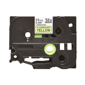 Brother TZE C51 Black on Fluorescent Yellow Labelling Tape – 24mm