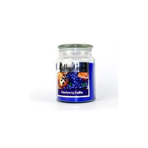 Lilly Lane Blueberry Muffin Scented Candle Large Lidded Mason Glass Jar – Wax Capacity 510grams, Burn Time Up to 75 Hours, Hig