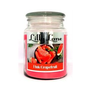 Lilly Lane Grapefruit Scented Candle Large Lidded Mason Glass Jar – Wax Capacity 510grams, Burn Time Up to 75 Hours, High Qual