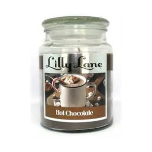 Lilly Lane Hot Chocolate Scented Candle Large Lidded Mason Glass Jar – Wax Capacity 510grams, Burn Time Up to 75 Hours, High Q